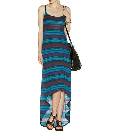 Jade Stripe Barnet Hi-Low Dress