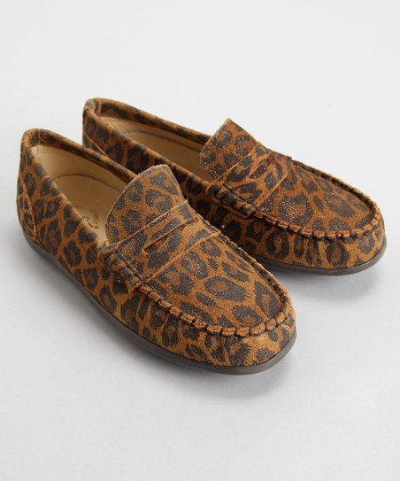 Brown Leopard Suede Jo-E Loafer