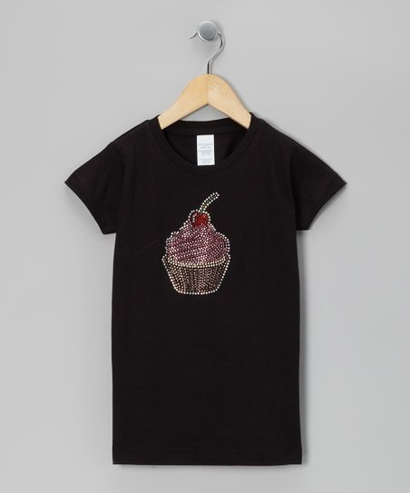Black Cupcake Tee - Toddler & Girls
