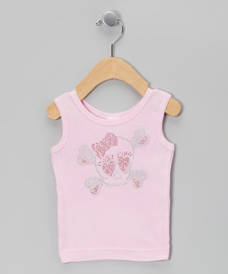 Light Pink Baby Girl Skull Tank - Infant, Toddler & Girls
