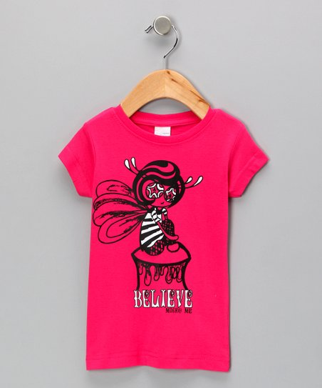 Hot Pink 'Believe' Fairy Tee - Toddler & Girls
