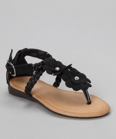 Black Braid Helen Sandal