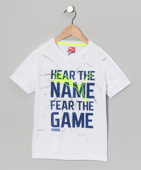White 'Name' Tee - Toddler & Boys