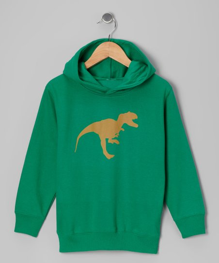 Kelly Green T-Rex Hoodie - Toddler & Kids