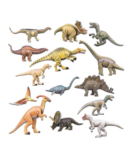 Dinosaurs 3-D Puzzle Set