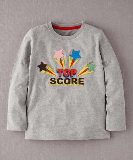 Gray 'Top Score' Tee - Toddler & Boys