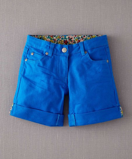 Riviera Blue Roll-Up Shorts - Infant, Toddler & Girls