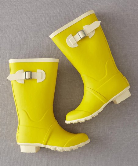 Sunshine Yellow Rainy Day Rain Boot