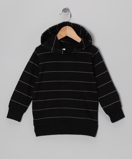 Black &amp; Coffee Stripe Hoodie - Infant