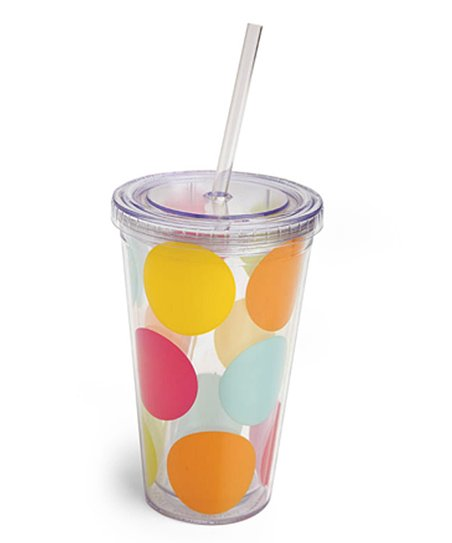 Polka Dot 17-Oz. Insulated Tumbler