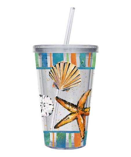 Coastal Brush Insulated 17-Oz. Cup & Straw