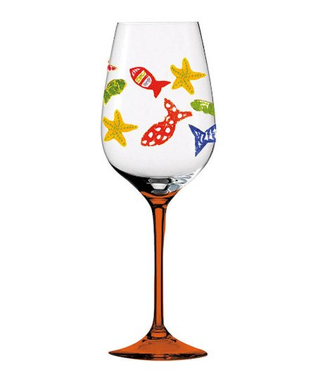Funky Fish Wine Glass