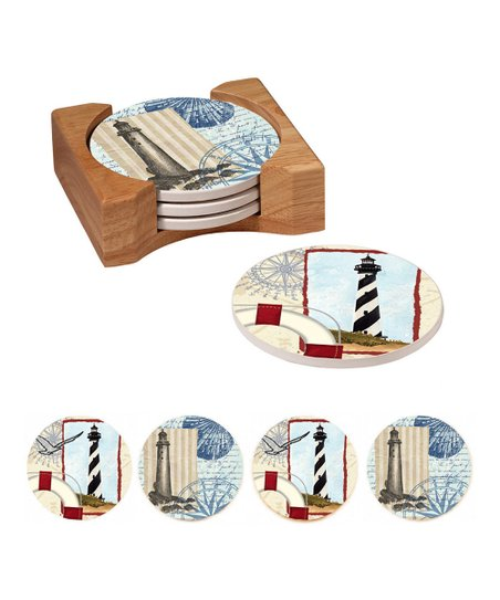 Lighthouse Collage Coaster Set