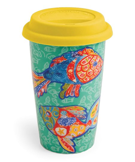Funky Fish Insulated Travel Mug