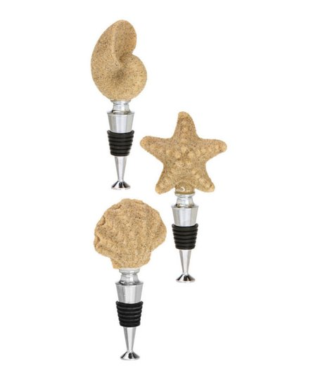 Coastal Brush Wine Stopper Set