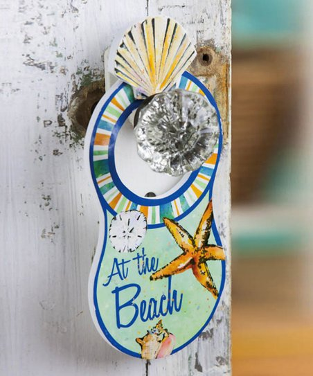 Coastal Brush Wooden Door Hanger