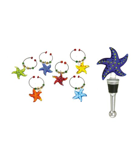 Starfish Wine Stopper & Charm Set