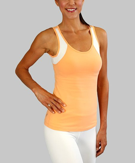 Tangerine Glow & Optic White Star Gazer Tank