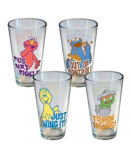 Retro Quote Glass Cup Set