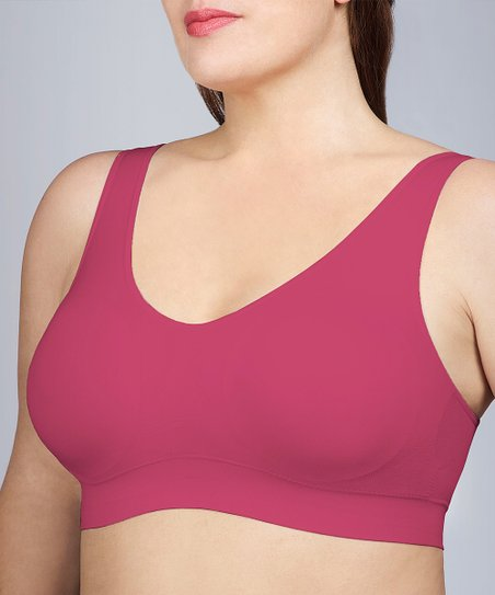 Berry Pink Seamless Comfort Bra - Women