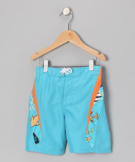 Blue Wayne Boardshorts - Boys