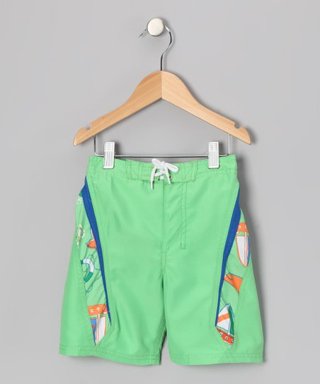 Lime Wayne Boardshorts - Boys