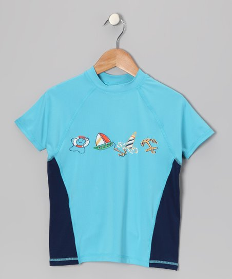 Blue Doug Rashguard - Boys