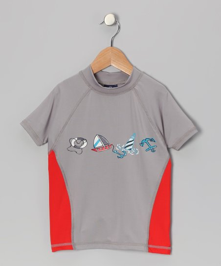 Silver Doug Rashguard - Boys