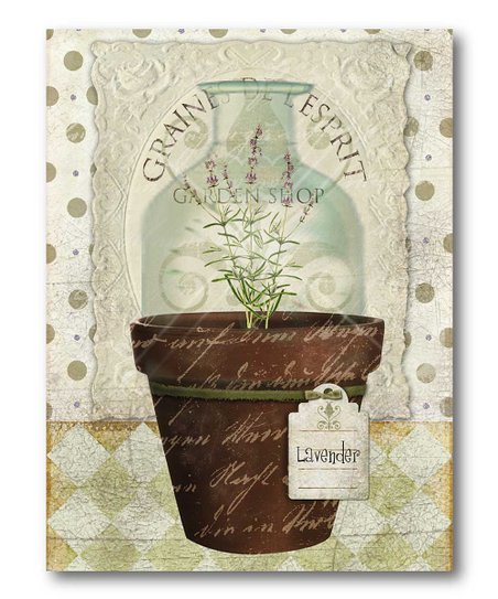 Herbpot Lavender Canvas Wall Art