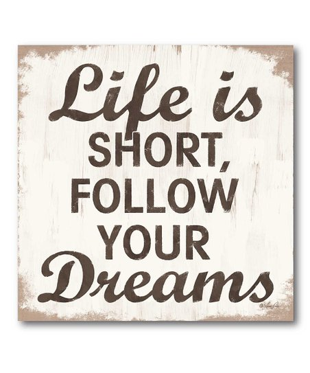 &#039;Life is Short&#039; Canvas Wall Art