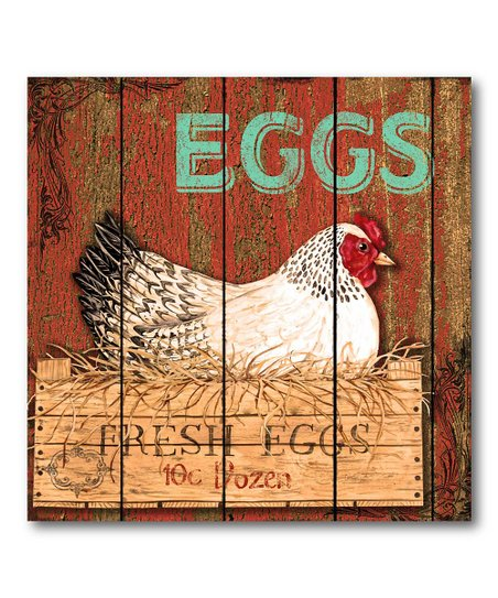 &#039;Fresh Eggs&#039; Canvas Wall Art