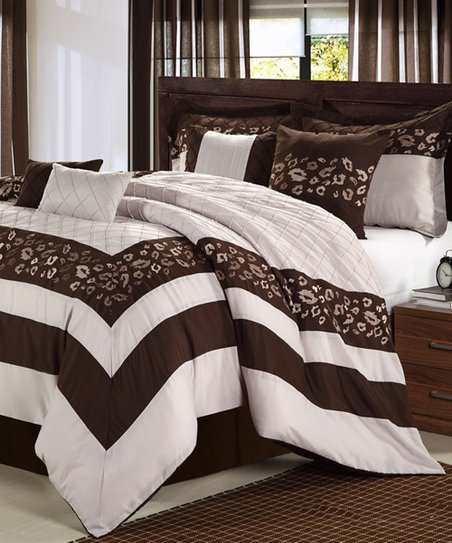 Brown Tiger Comforter Set