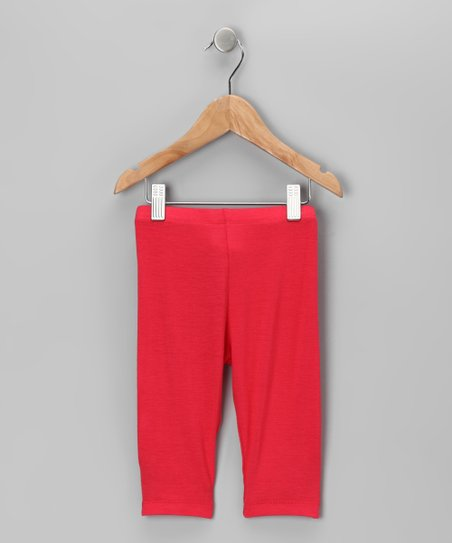 Coral Capri Leggings - Toddler & Girls