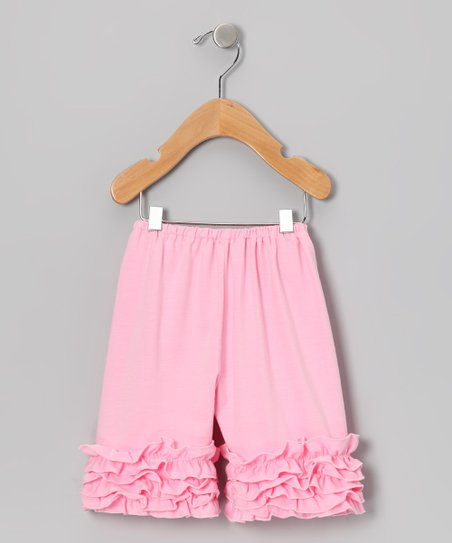 Light Pink Ruffle Shorts – Toddler & Girls