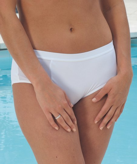 White Coolmax Boyshorts