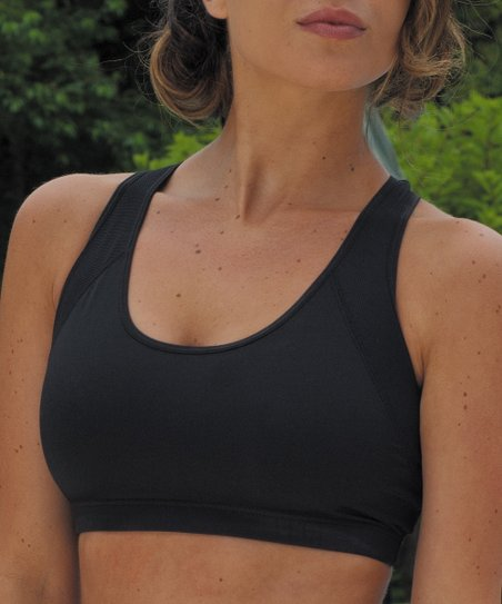 Black Coolmax Racerback Sports Bra