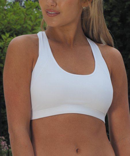 White Coolmax Racerback Sports Bra