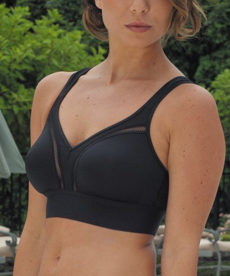 Black Coolmax Soft Cup Sports Bra