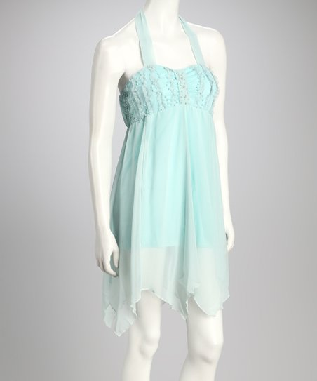 Mint Halter Dress
