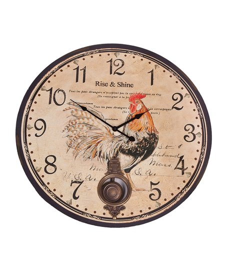 Rise &amp; Shine Wall Clock