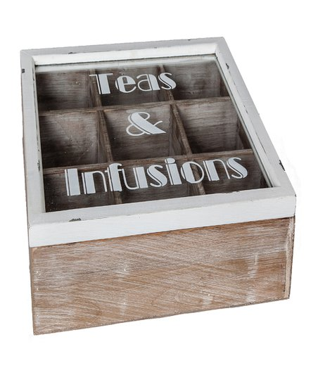 Antique White 'Tea & Infusions' Box