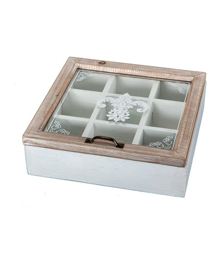 Antique White Fleur-de-Lis Box