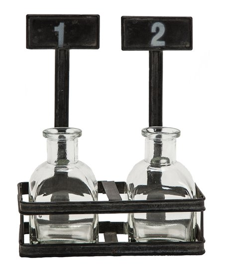 Chalkboard Holder & Bottle Duo Set
