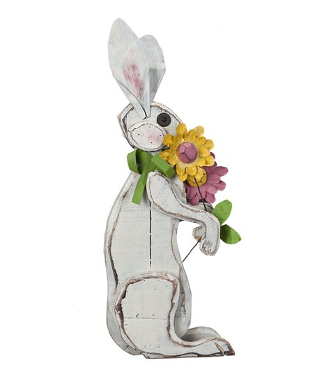 Bunny &amp; Flower Figurine