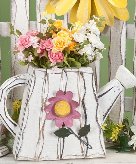 White Flower & Watering Can Figurine
