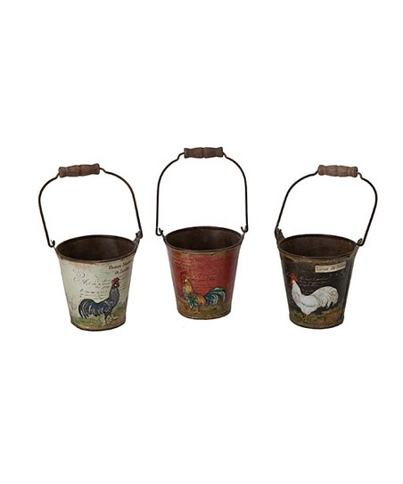French Rooster Small Bucket Set