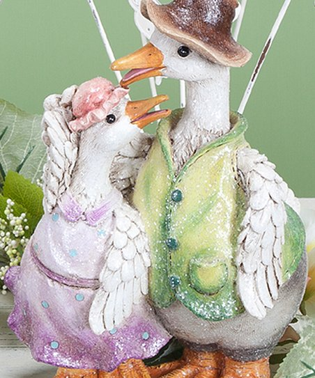 Duck Dad & Daughter Hat Figurine