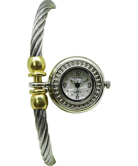 Silver Crystal Charm Watch