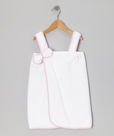 Pink & White Organic Cover-Up - Infant, Toddler & Girls