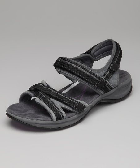 Dark Gray & Black Efecta Sandal
